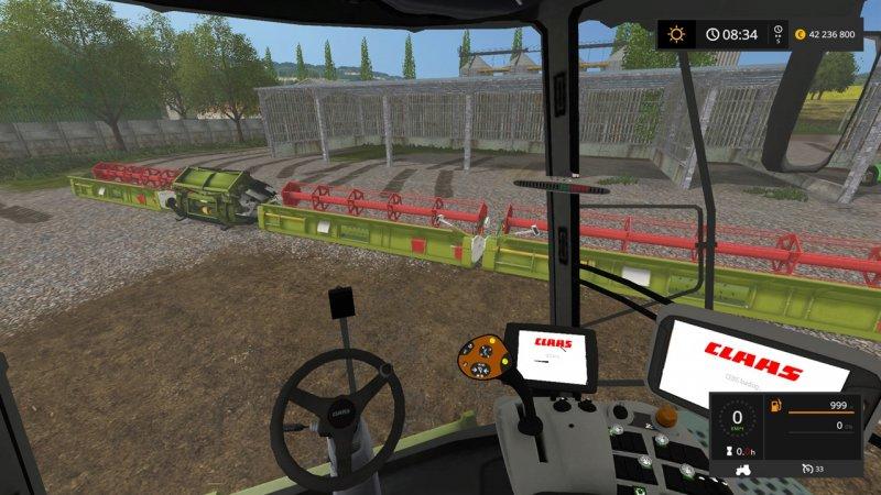 Claas Lexion 780 Headers For Ls 17 Farming Simulator