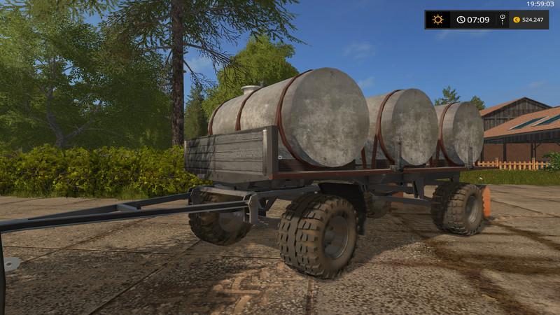 HW water / milk barrel V 1.0 wsb Trailers - Farming ... Happy Wheels