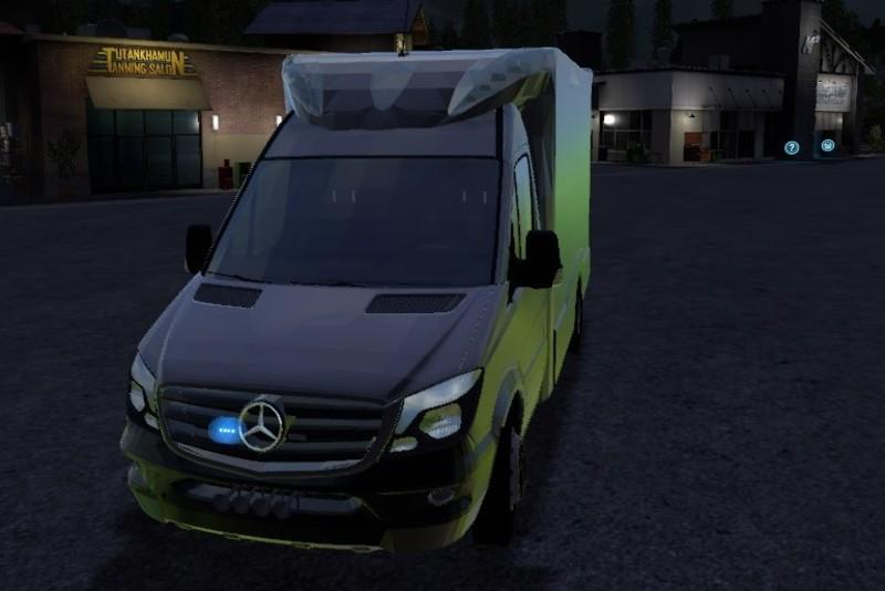 Mercedes Benz Sprinter >> MERCEDES BENZ SPRINTER RTW TIGIS V 1.0 for LS 17 - Farming Simulator 2017 mod, LS 2017 mod / FS ...