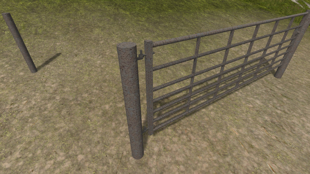 Gates Used Cars >> Steel Cattle gates with light rust FS 17 - Farming Simulator 2017 mod, LS 2017 mod / FS 17 mod