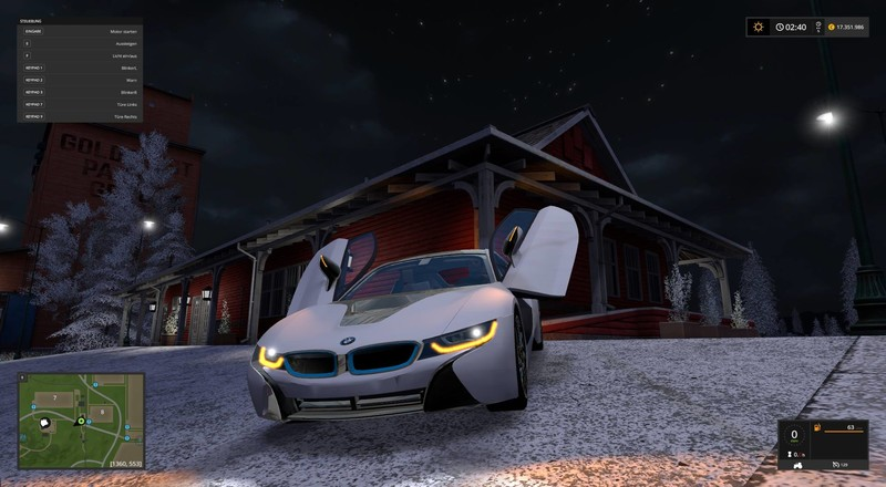 bmw i8 v 1 0 ls17 farming simulator 2017 mod ls 2017 mod fs 17 mod. Black Bedroom Furniture Sets. Home Design Ideas