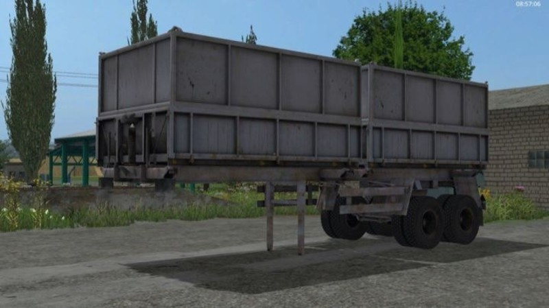 Mmz Semi Trailer V 1 0 For Ls17 furthermore Stock Abbildung Amerikanischer Lkw Image55692140 as well 2016 Xl Specialized Belly Dump Trailer Inv 1 furthermore Big Boom In The Cline Shale moreover Catalog. on side dump trailers