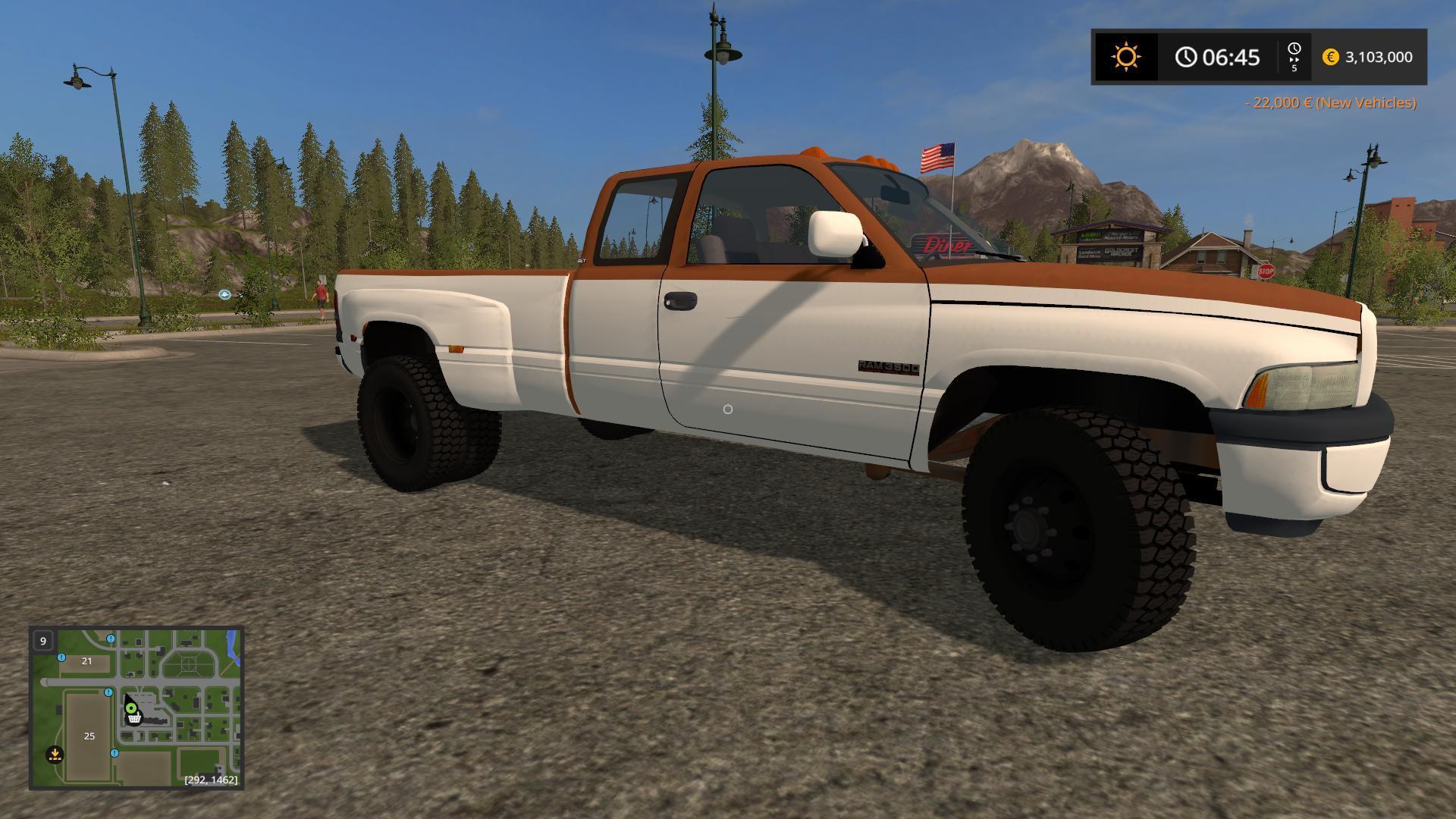 Dodge Ram Work Truck V1 Fs 17 Farming Simulator 2017 Mod