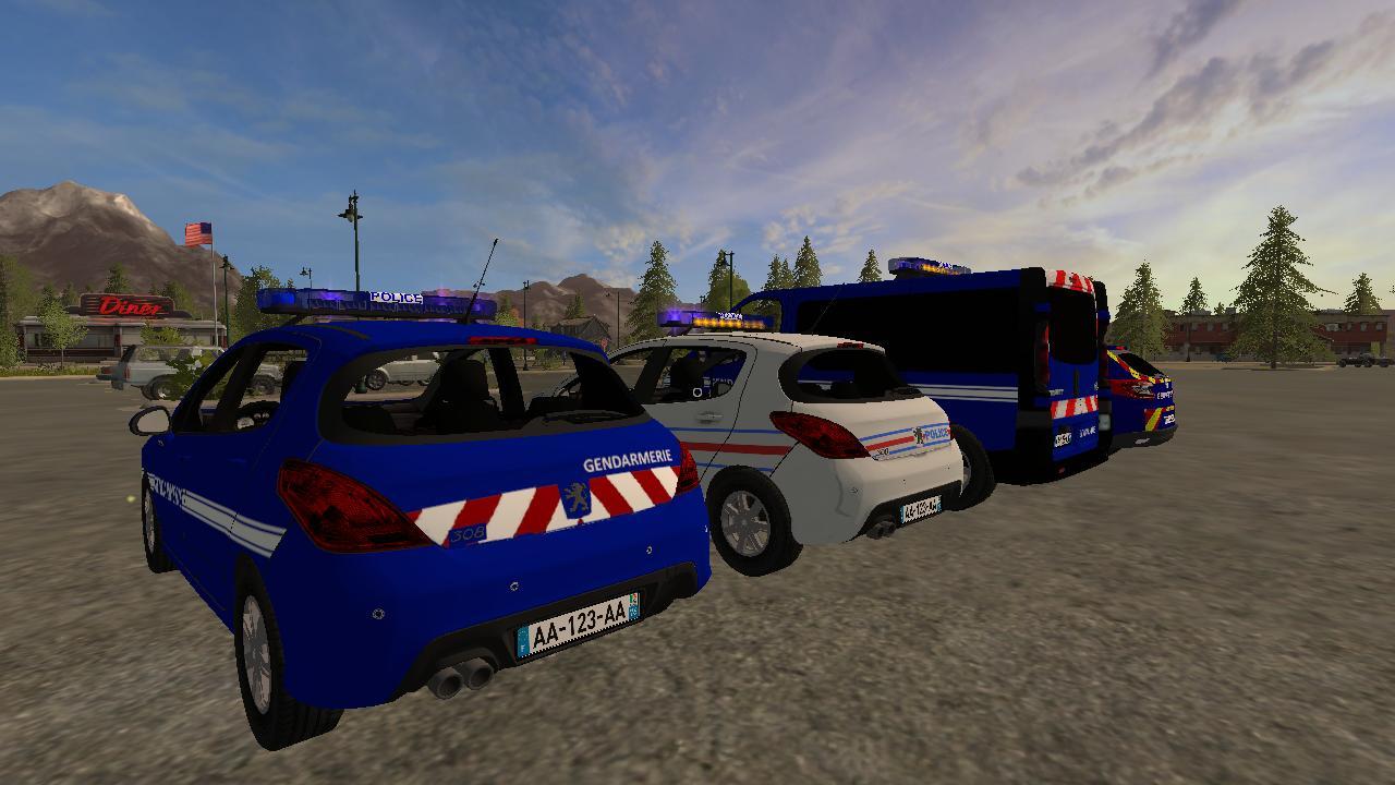 PACK GENDARMERIE – POLICE for FS17 - Farming Simulator 2017 mod, LS 2017 mod / FS 17 mod