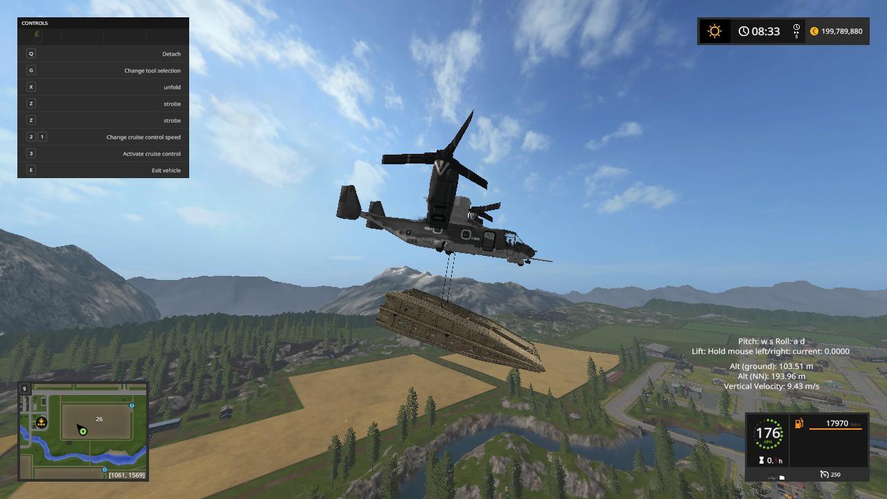 BOEING V-22 OSPREY BY LAMBO V1 LS17 - Farming Simulator ...