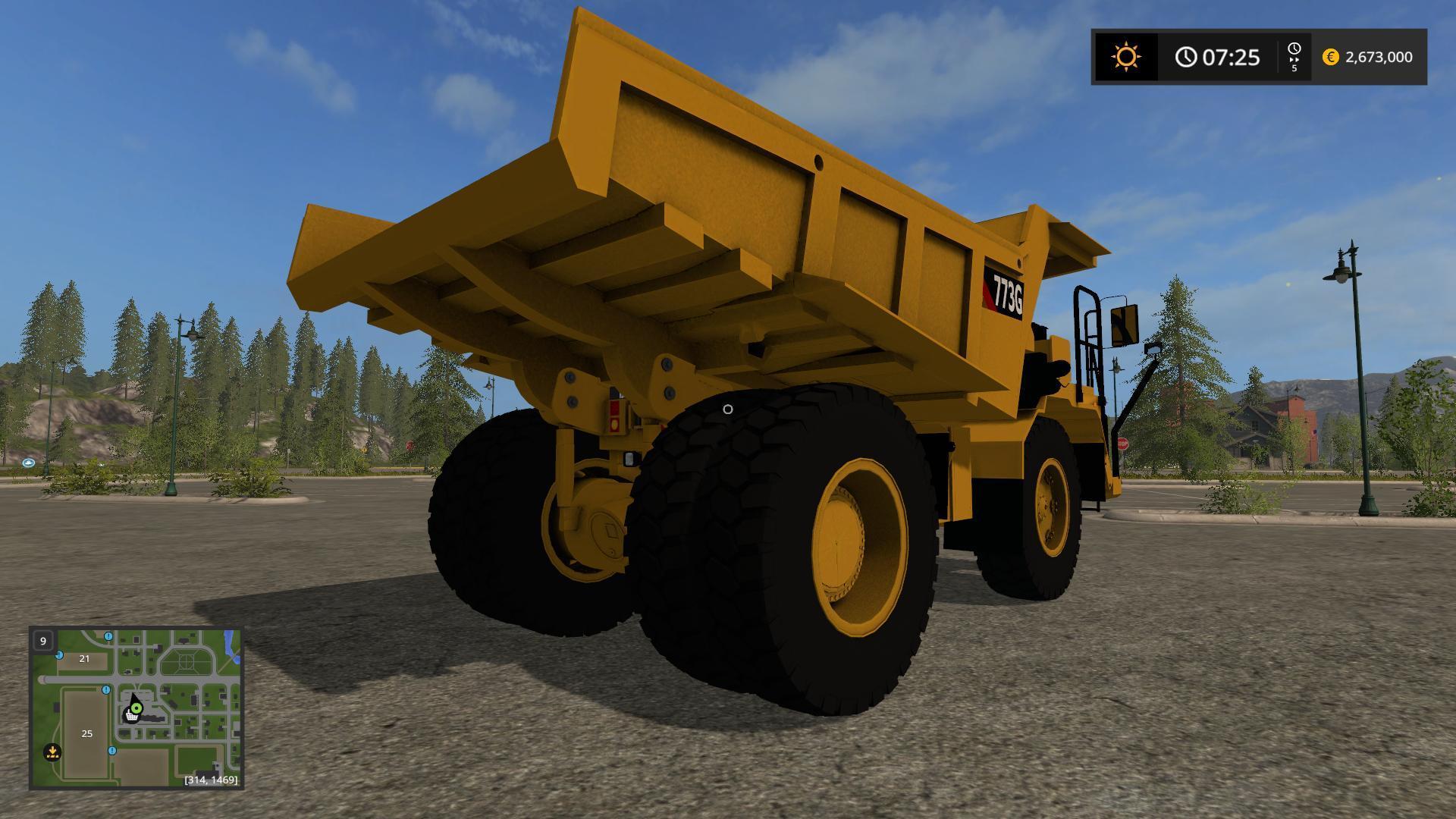 CAT 773G V1.3 for FS 17 - Farming Simulator 2017 mod, LS 2017 mod / FS 17 mod