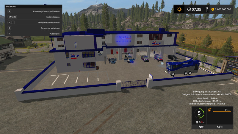 GolDGRECHST Vally Police Editon V 1.0 FS2017 - Farming Simulator 2017 mod, LS 2017 mod / FS 17 mod
