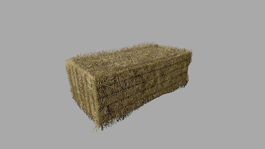 FS 19 Straw Bale Prefab v1 0 0 0 Mod - Farming Simulator 2017 mod
