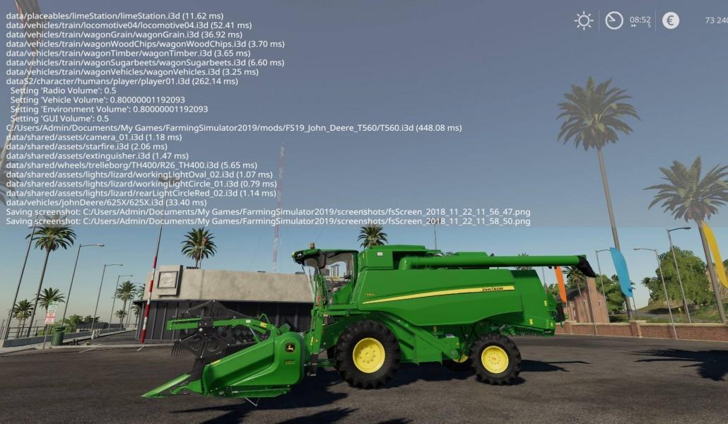 John Deere T560 auto contour v1 0 FS19 - Farming Simulator 2017 mod