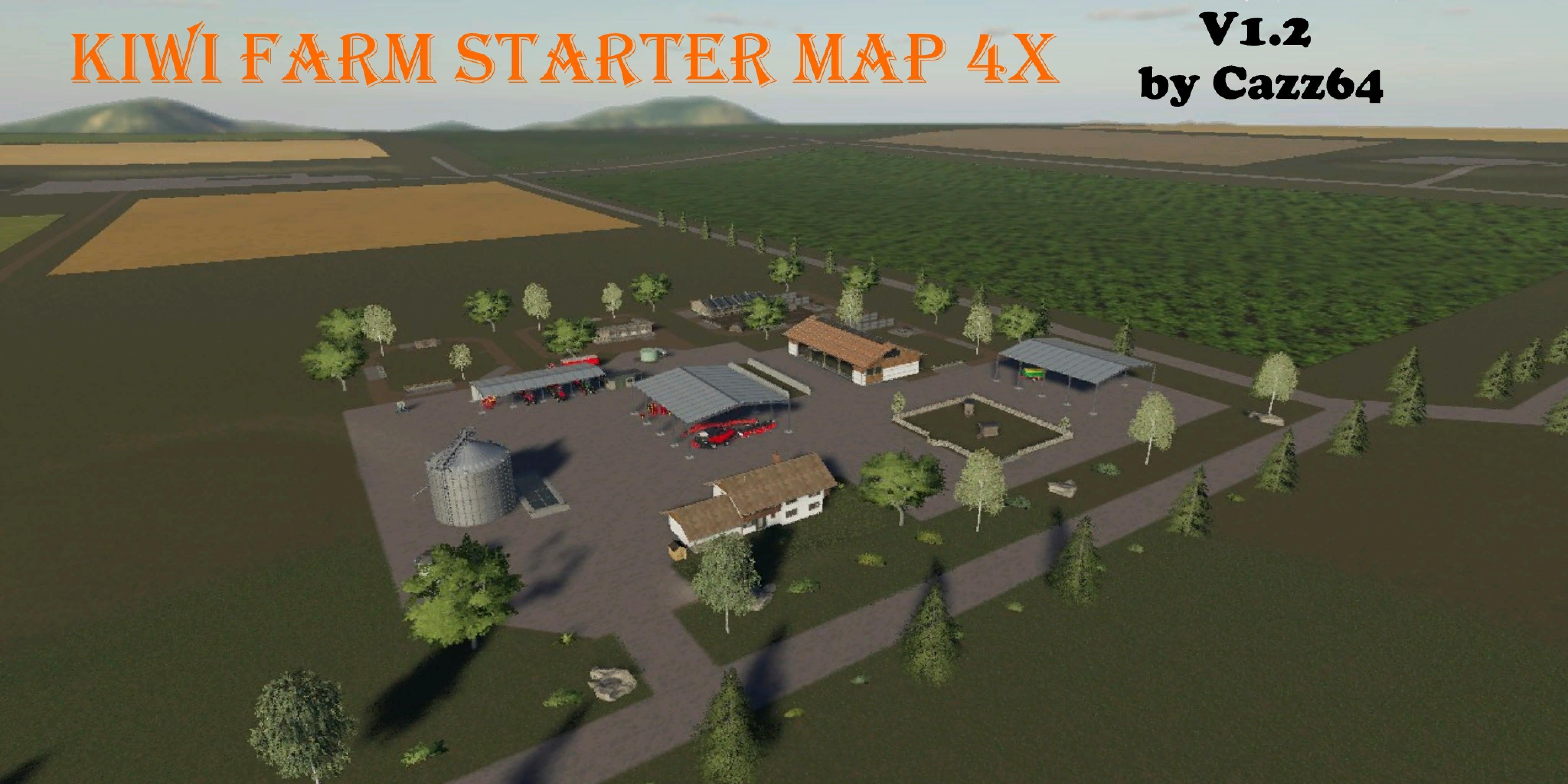 KIWI FARM STARTER MAP 4X v1 2 Map - Farming Simulator 2017 mod, LS