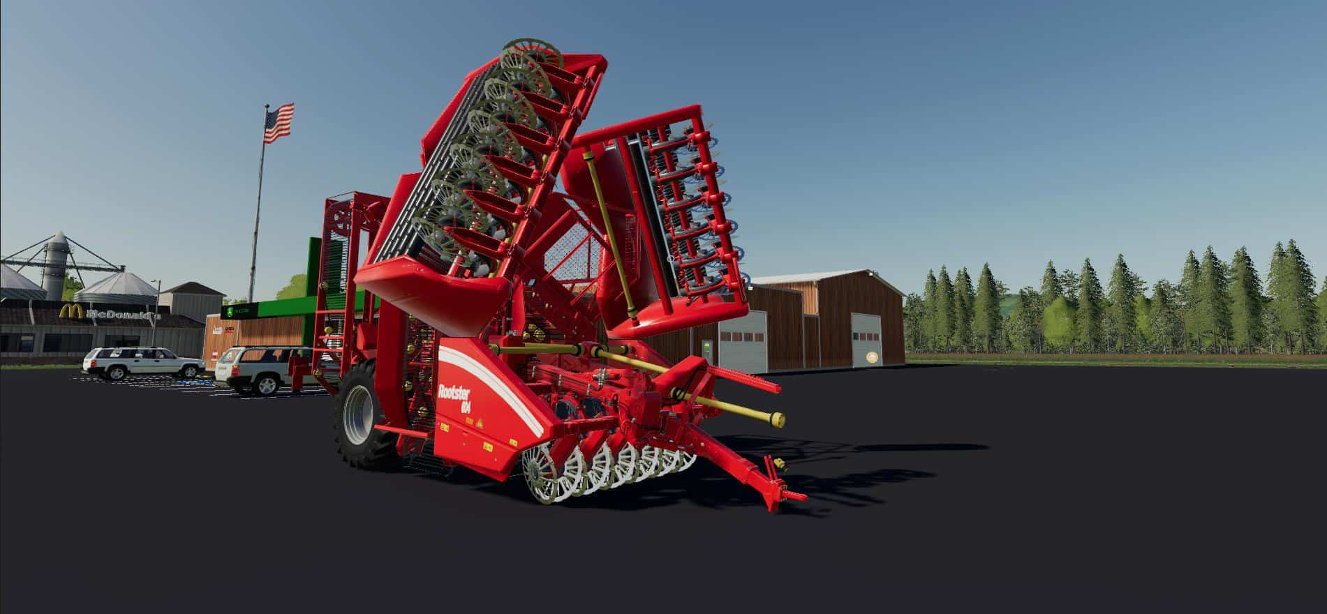 ROOSTER 18 ROW SUGAR BEET HARVESTER v1 0 Mod - Farming Simulator