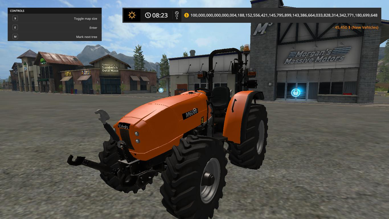 Kubota M6060 v1 0 0 0 for LS 17 - Farming Simulator 2017 mod, LS